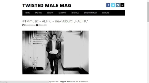 Alific featured on Twisted Male Mag